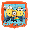 Minions Happy Birthday Standard Foil Balloon Bouquet