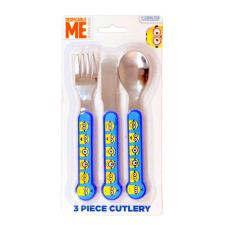 Minions 3 Piece Cutlery Set