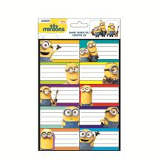 Minions 3D Bubble Name Labels Sheet