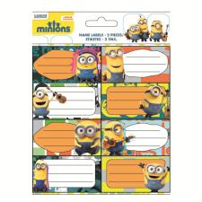 Minions Name Labels 2 Sheets