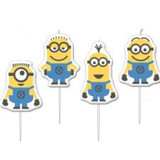 Minions Mini Figurine Candles (Pack of 4)