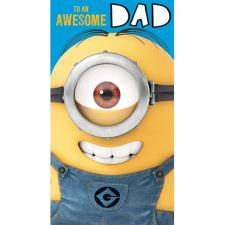Awesome Dad Minions Birthday Card