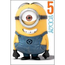 5 Today Minions Pop Up  Birthday Card