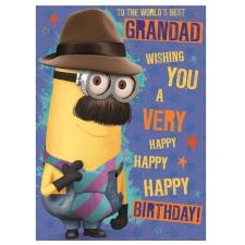 Worlds Best Grandad Minions Birthday Card