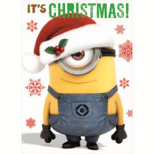 Its Christmas Minions Christmas Card