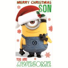 Son Minions Christmas Card