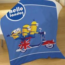Hello London Minions Fleece Blanket