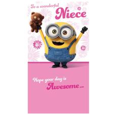 Special Niece Minions Birthday Card