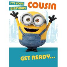 Cousin Minions Birthday Card
