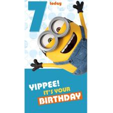 7 Today Minions Birthday Card