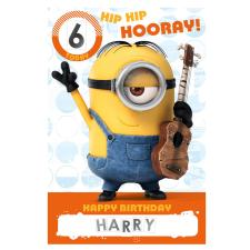 Happy Birthday Minions Personalised Stickers Card