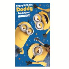 Daddy From Your Minions Birthday Card