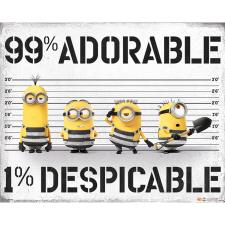 Despicable Me Minions 99% Adorable 1% Despicable Mini Poster