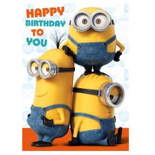 Happy Birthday Minions Sound Card