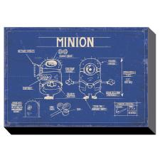 Minion Blue Print Canvas Print (60cm x 80cm)