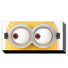Minions Eyes Canvas Print (50cm x 100cm)