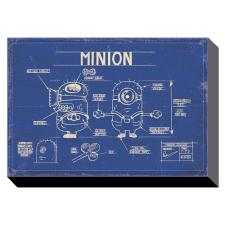 Minion Blue Print Canvas Print (40cm x 50cm)