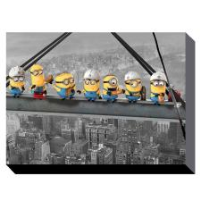 Minions Lunch On A Skyscraper Canvas Print (85cm x 120cm)