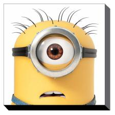 Minion Carl Close Up Canvas Print (60cm x 60cm)