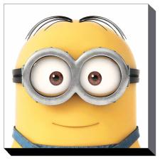 Minion Dave Close Up Canvas Print (60cm x 60cm)