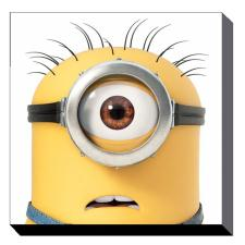 Minion Carl Close Up Canvas Print (85cm x 85cm)