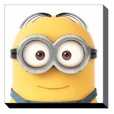 Minion Dave Close Up Canvas Print (85cm x 85cm)