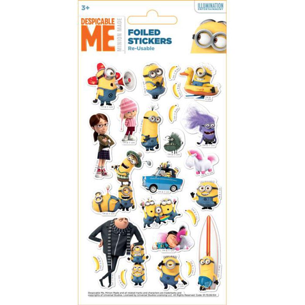 0de1d825eb Despicable Me Minions Re-Usable Foiled Sticker Pack £1.25