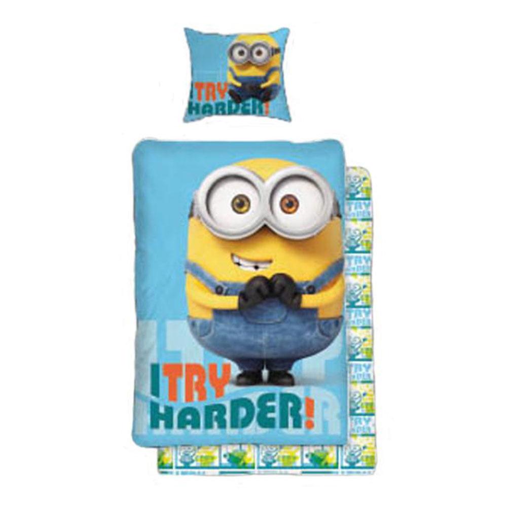 I Try Harder Minions Bob Single Duvet Cover Set
