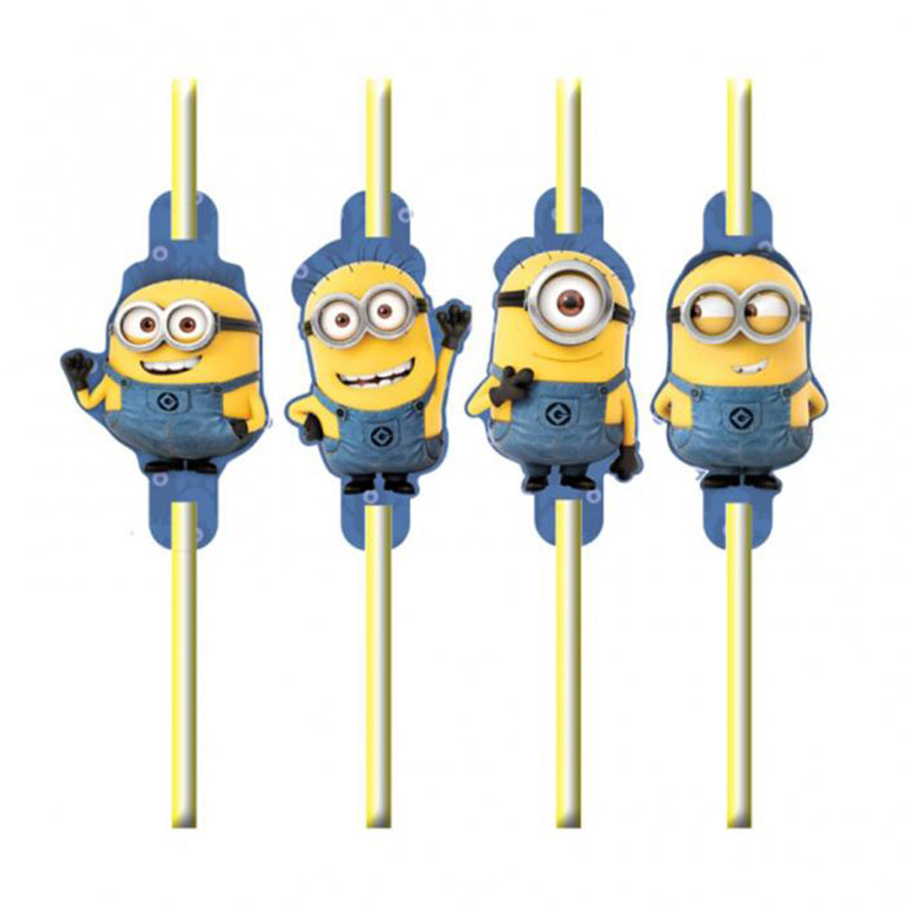 Minions Party Minions Party Drinking Straws Pack Of 8 Minion Shop