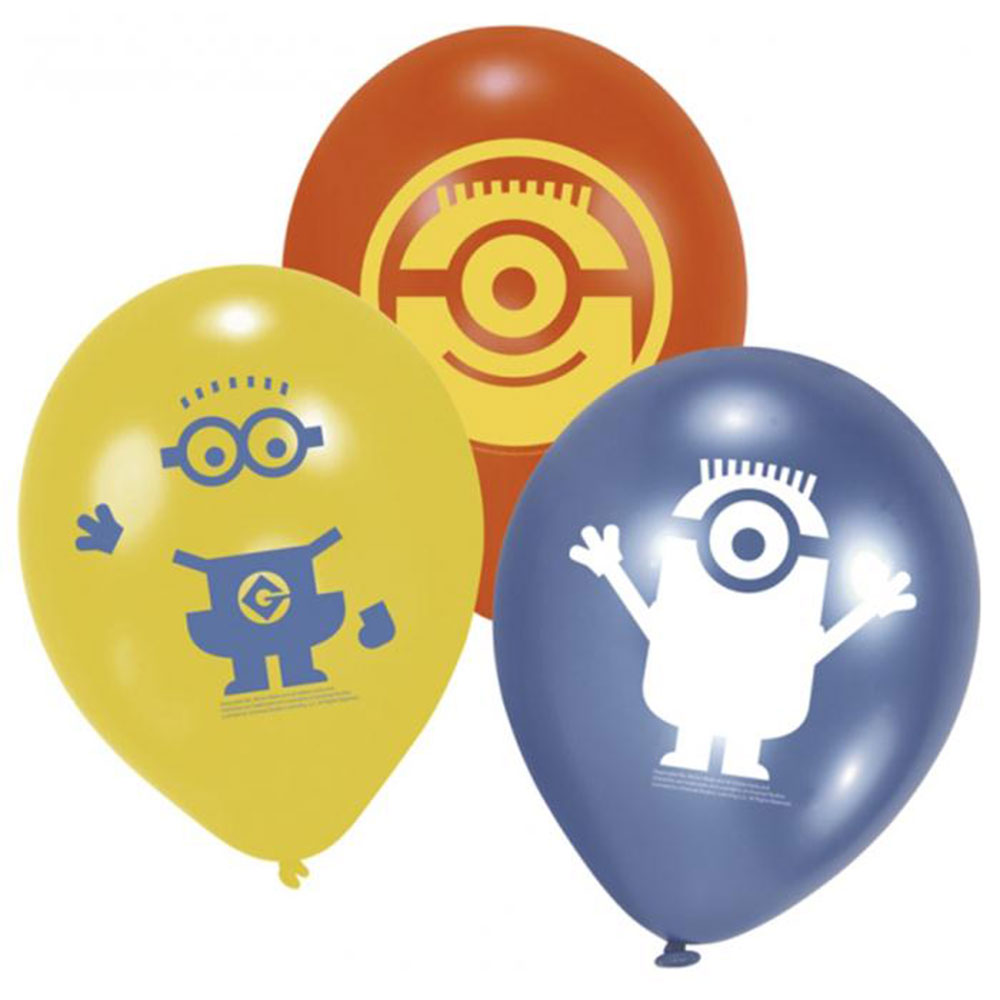 Minions Party Minions Party Balloons Pack Of 6 Minion Shop