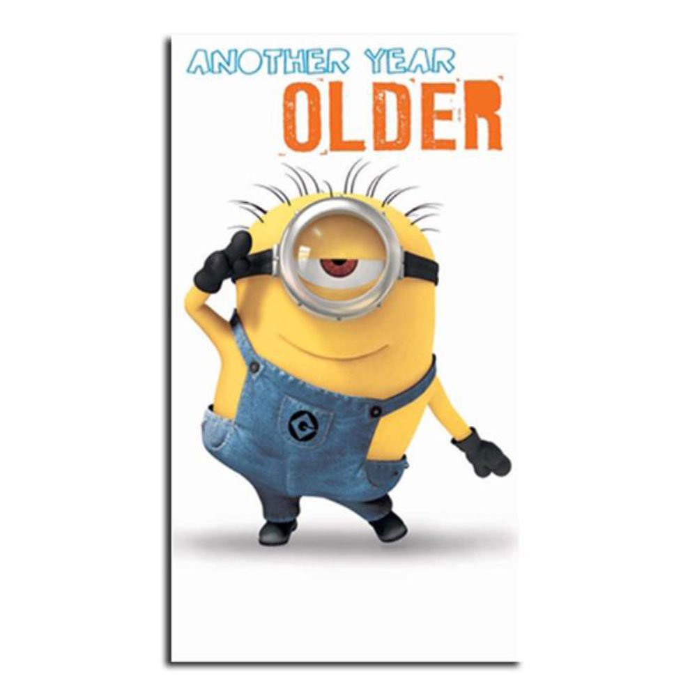 Another Year Older Minions Birthday Card 210