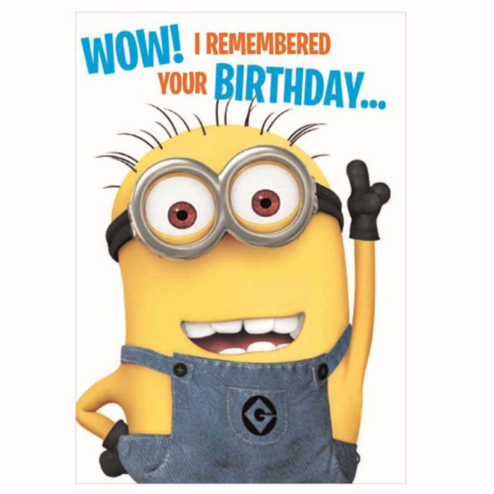 remembered your birthday minions card minion shop