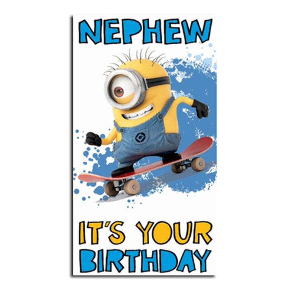Nephew Birthday Minions Card – Birthday Card Nephew