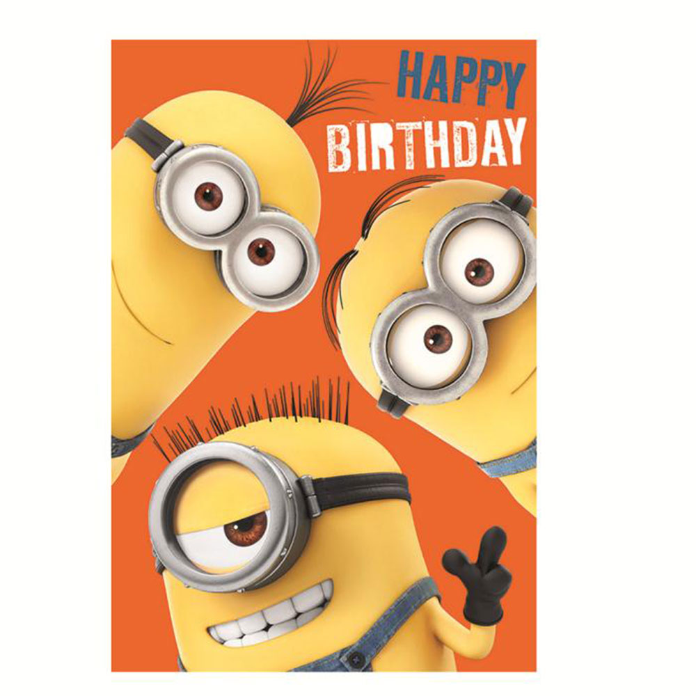 Happy Birthday Minions Height Chart Card 300