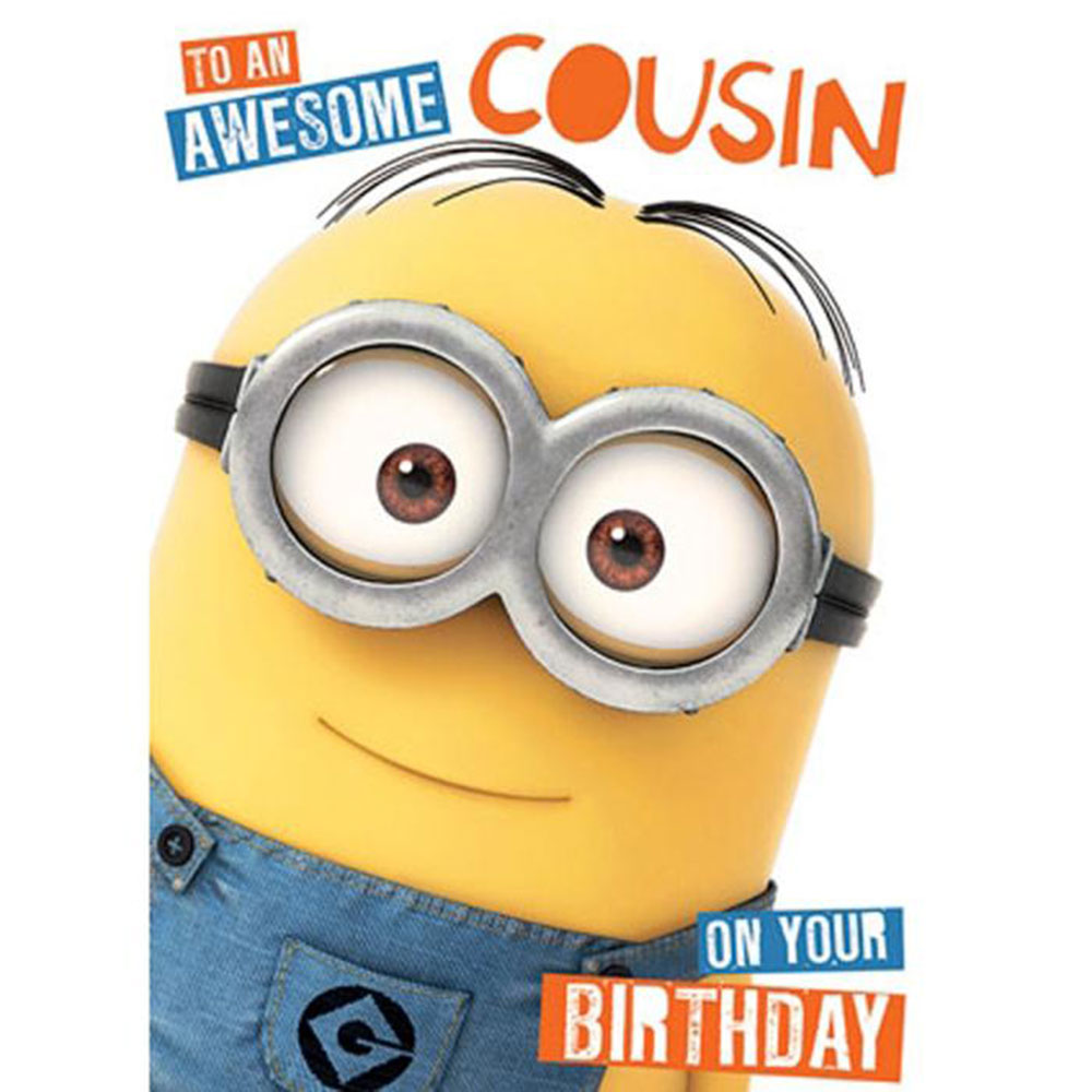 Awesome Cousin Minions Birthday Card – Birthday Cards Cousin