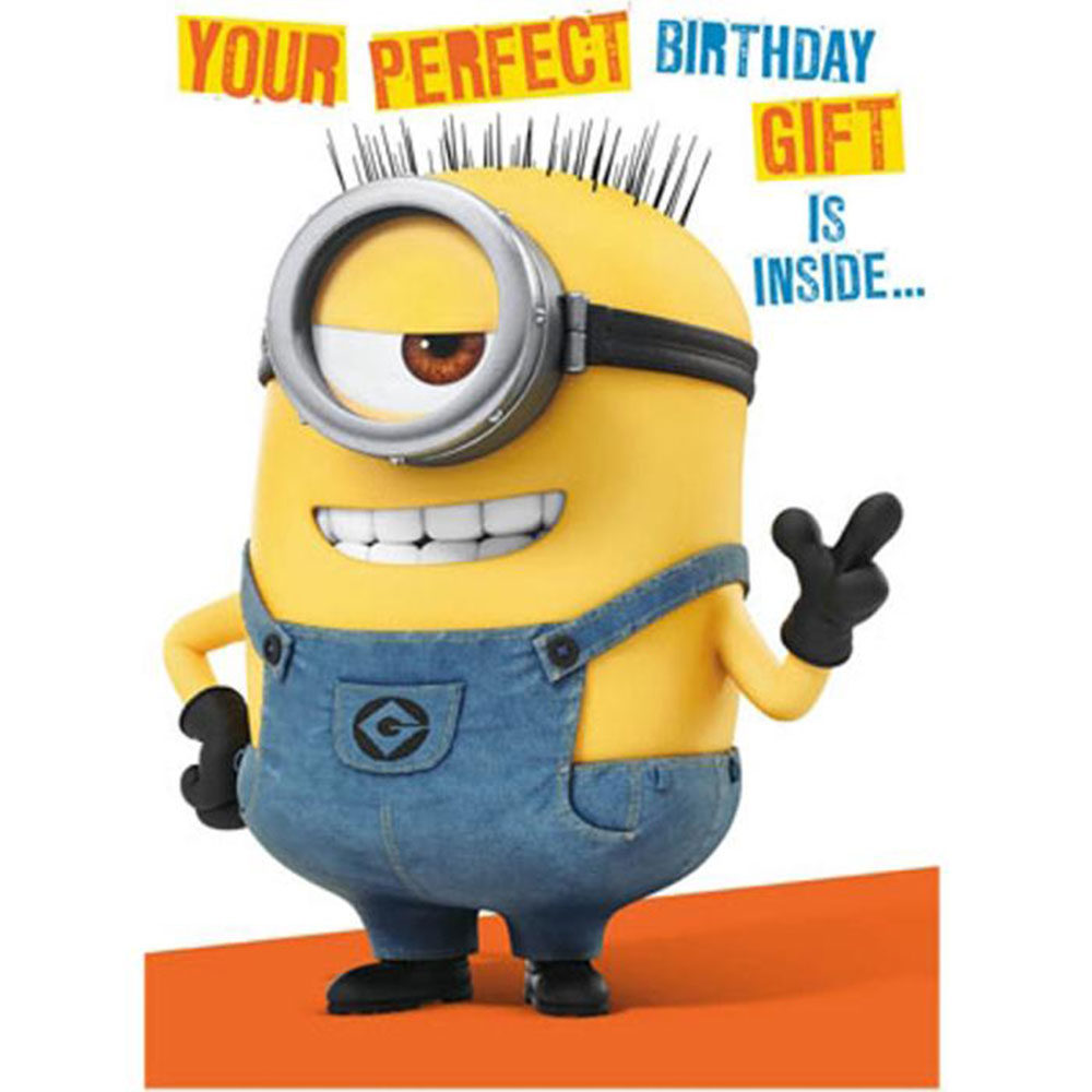 Minion Birthday Card With Assemble Your Own 3D Minion – Minion Happy Birthday Card