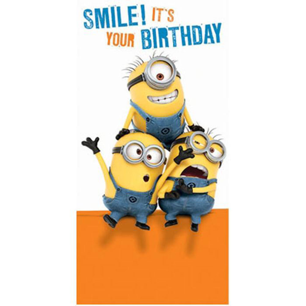 Smile Its Your Birthday Minions Money Gift Wallet Card 160