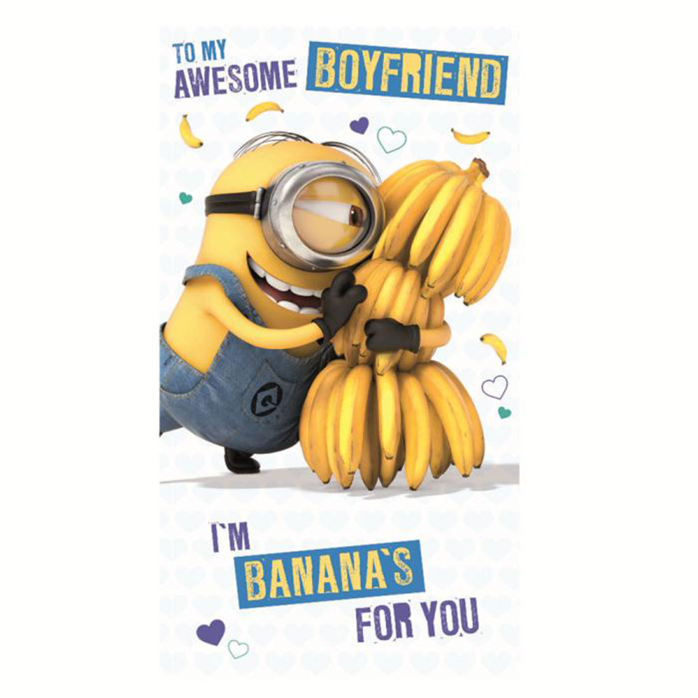 Awesome Boyfriend Minions Birthday Card – Minion Happy Birthday Card