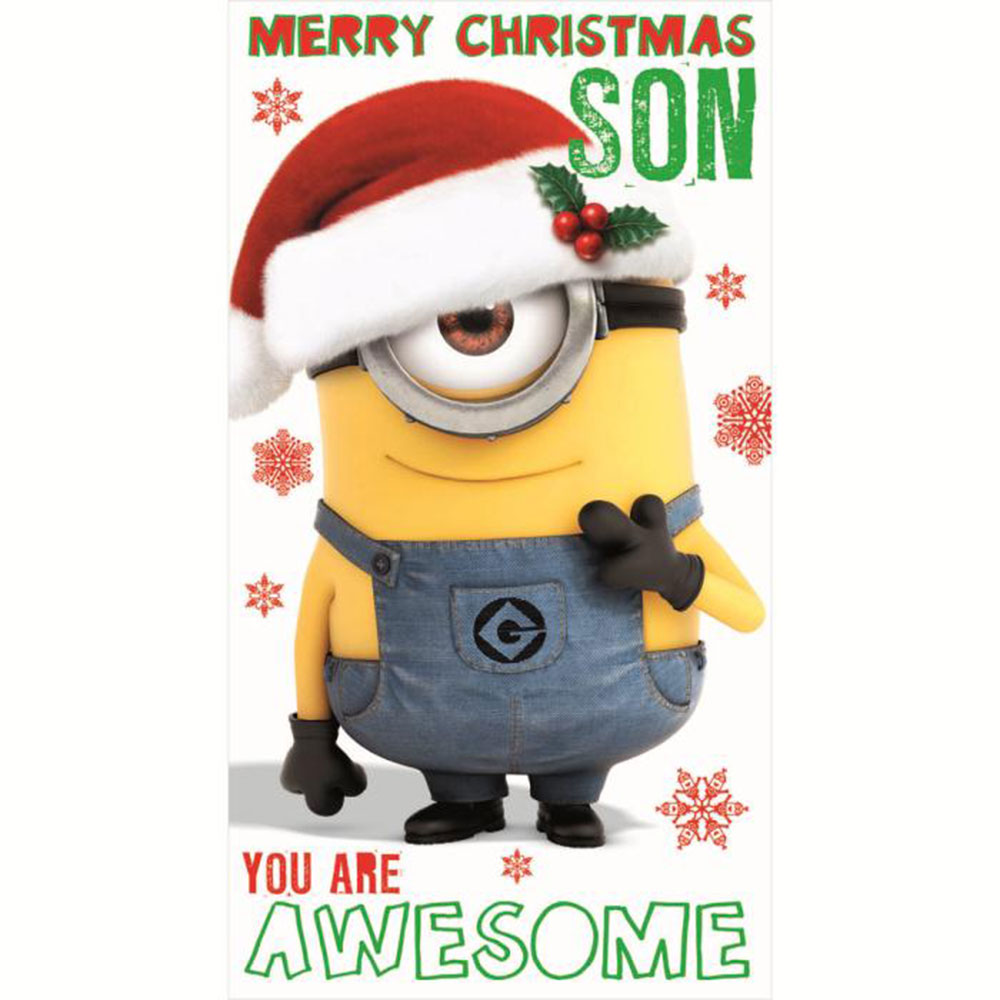 son minions christmas card 210 - Minions Christmas