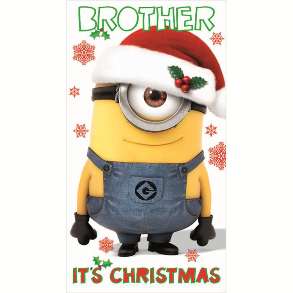 brother minions christmas card - Christmas Minions