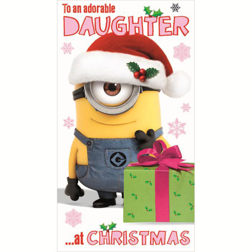 daughter minions christmas card - Christmas Minions