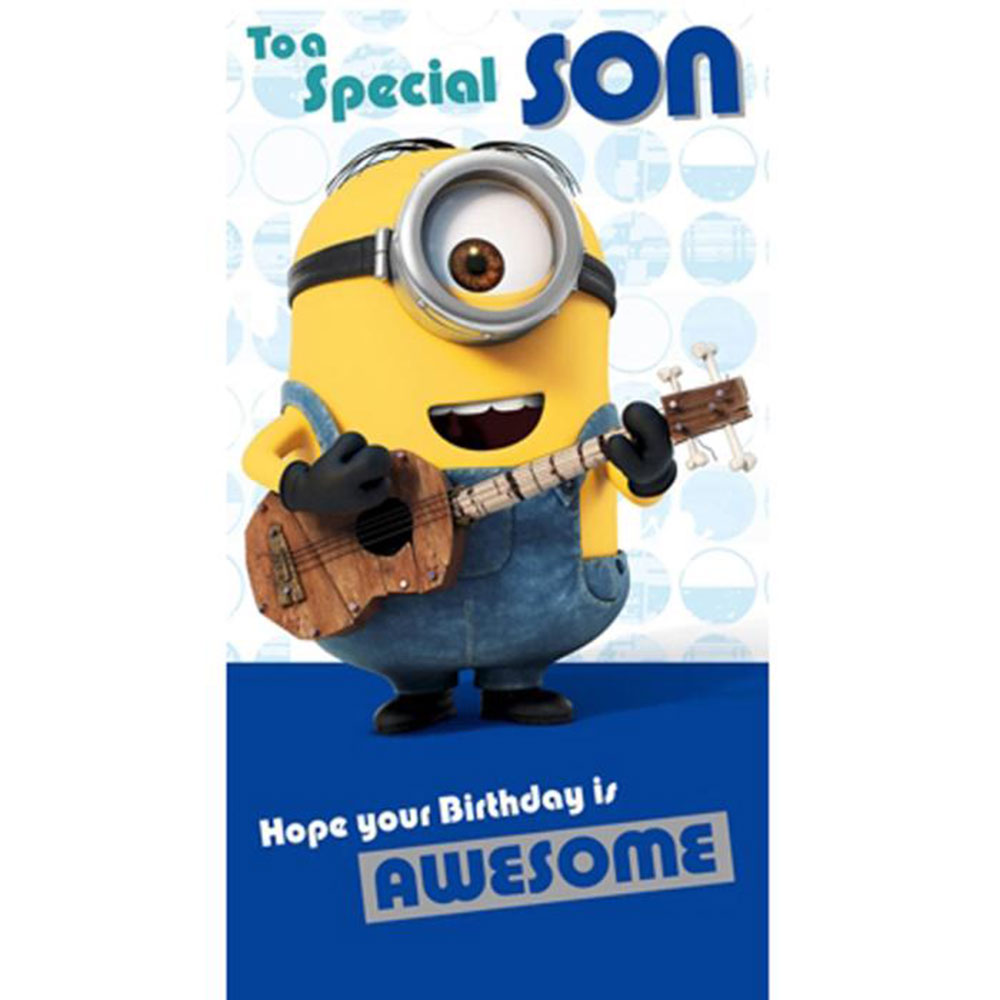 Special Son Minions Birthday Card 210