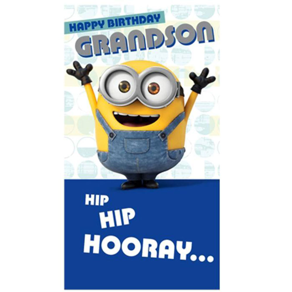 Grandson Minions Birthday Card 210