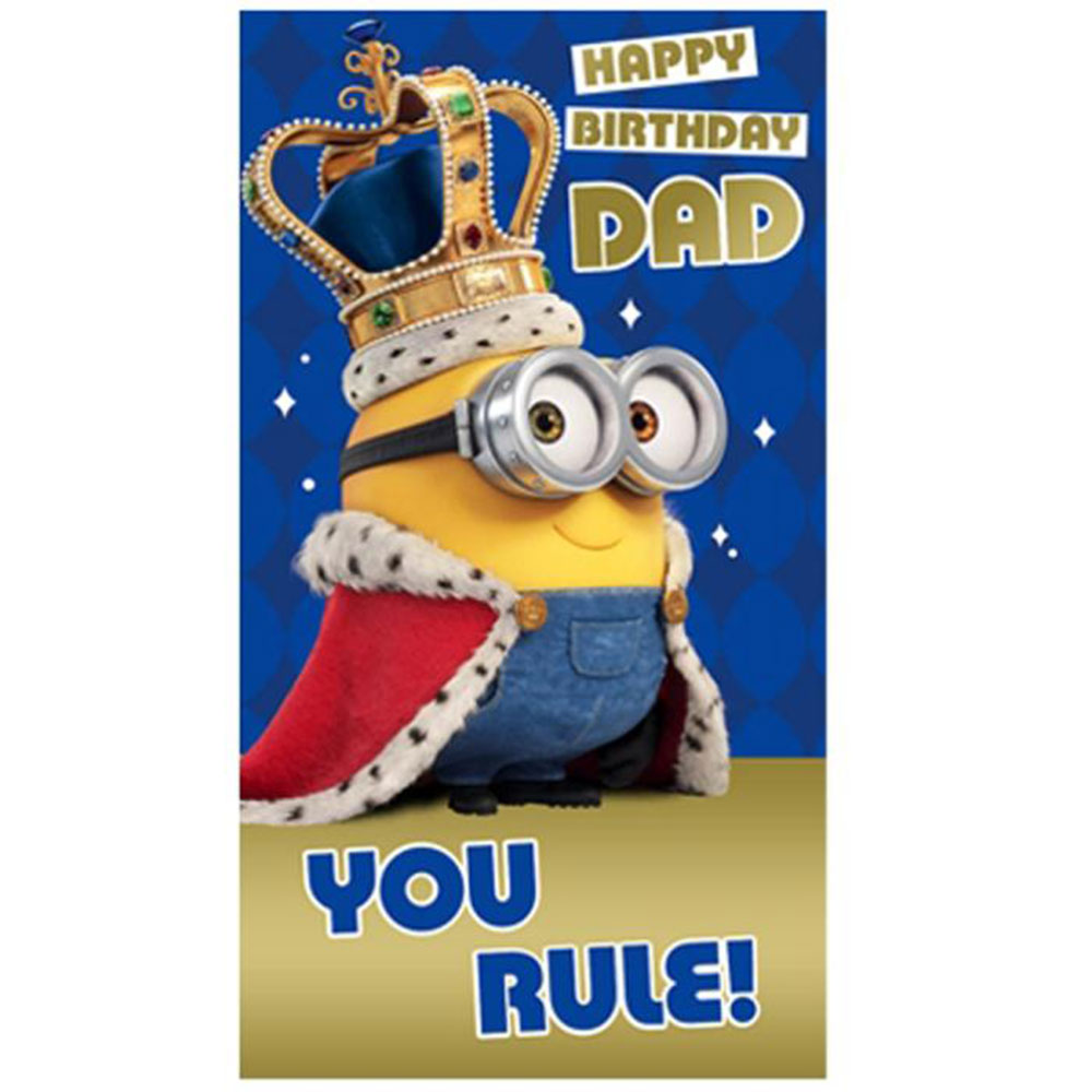 Dad You Rule Minions Birthday Card 210