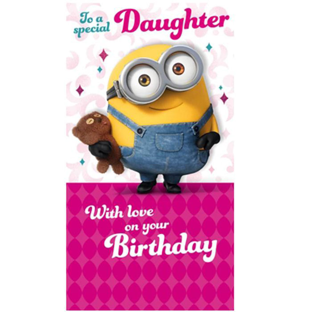 Special Daughter Minions Birthday Card – Birthday Daughter Card