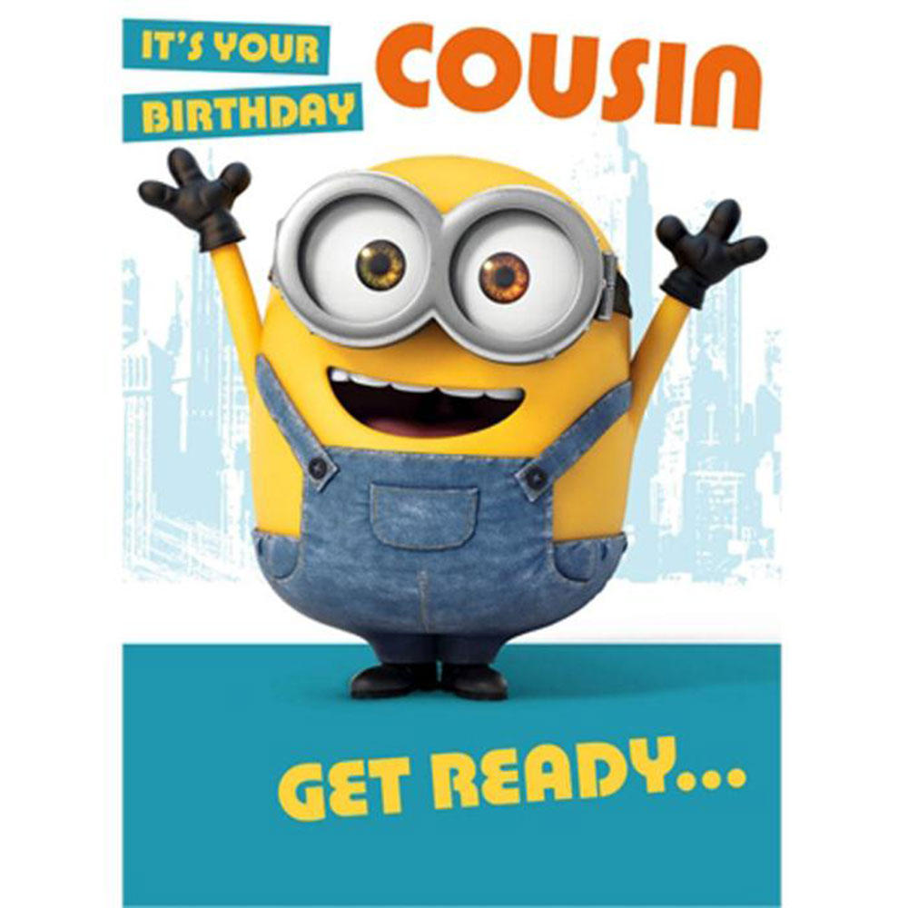 Cousin Minions Birthday Card – Minion Happy Birthday Card