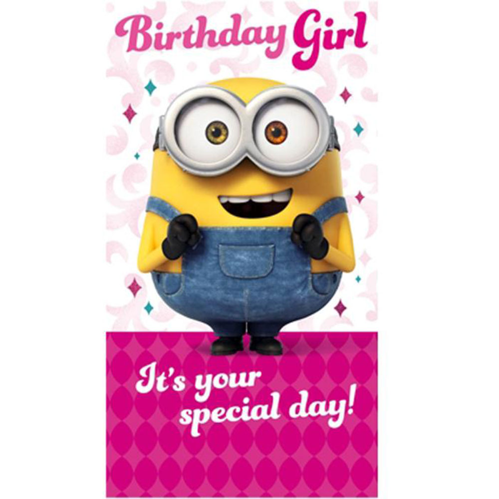 Birthday Girl Minions Card 210