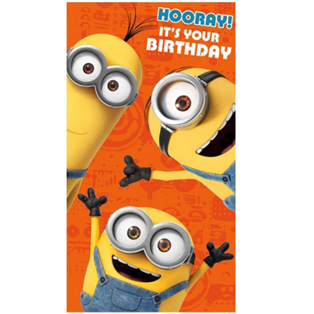 Hooray It's Your Birthday Minions Card   Minion Shop.