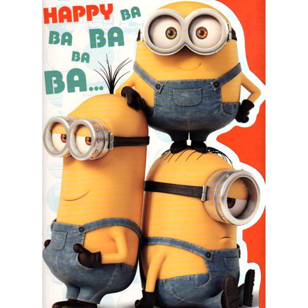 Large Minions Birthday Card – Minion Happy Birthday Card