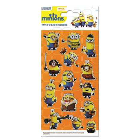 Minions Movie Fun Foiled Re-Usable Sticker Pack  £1.69